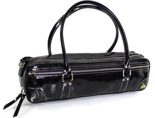 Flute Bag - Black Patent Leather