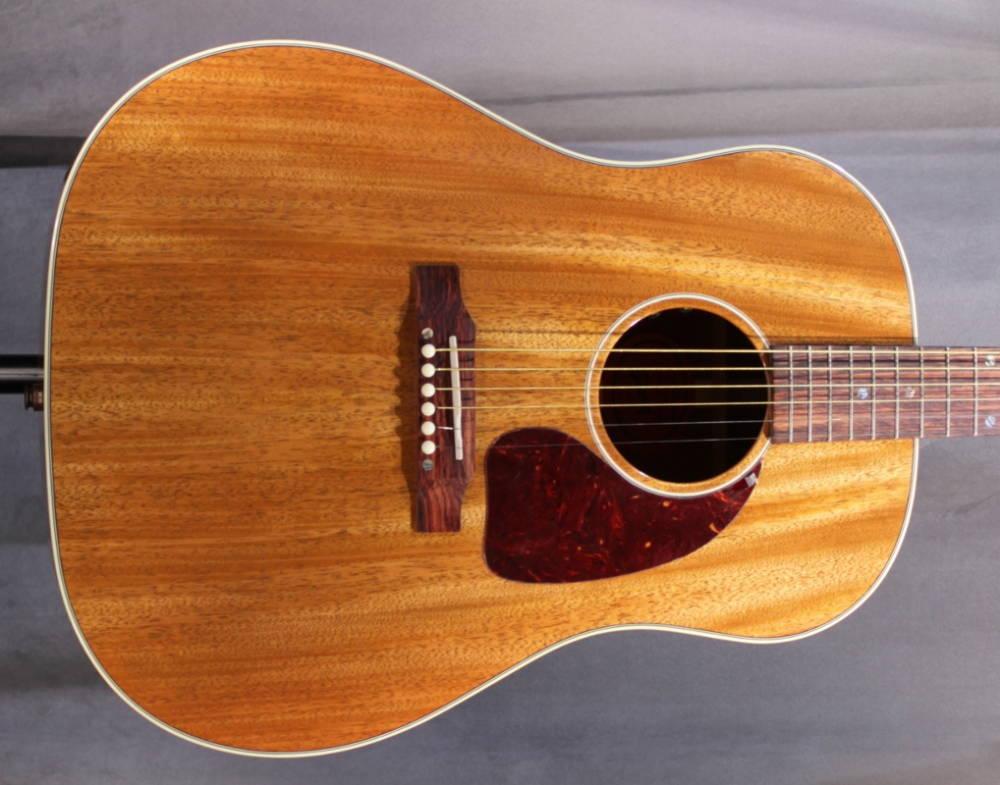 gibson j 45 mahogany top acoustic guitar long mcquade musical instruments. Black Bedroom Furniture Sets. Home Design Ideas