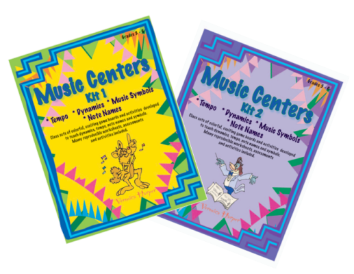 Music Centers Kit 1 and 2 (Grades 3-6) - Harper - Game Boards
