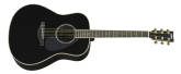 Yamaha - A.R.E. Dreadnought Acoustic/Electric Guitar - Black