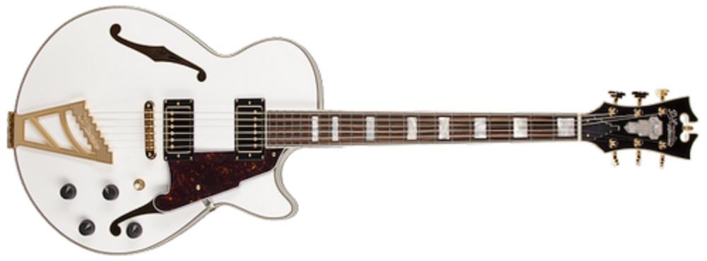 d angelico guitars single cut hollow white long mcquade