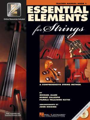 Essential Elements for Strings Book 1 - Teacher Manual - Book/CD-ROM/Media Online (EEi)