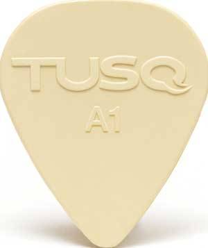 Tusq Pick 0.88 mm Vintage White - 6 Pack
