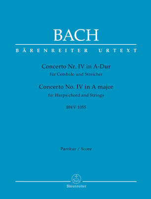 Concerto for Harpsichord and Strings no. 4 A major BWV 1055 - Bach/Breig - Full Score