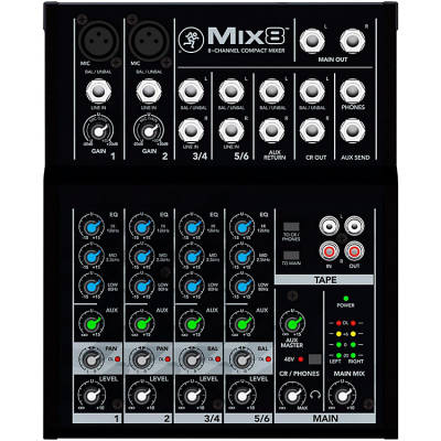 MIX Series 8 Channel Compact Mixer