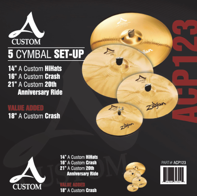 A Custom 5 Cymbal Set Up
