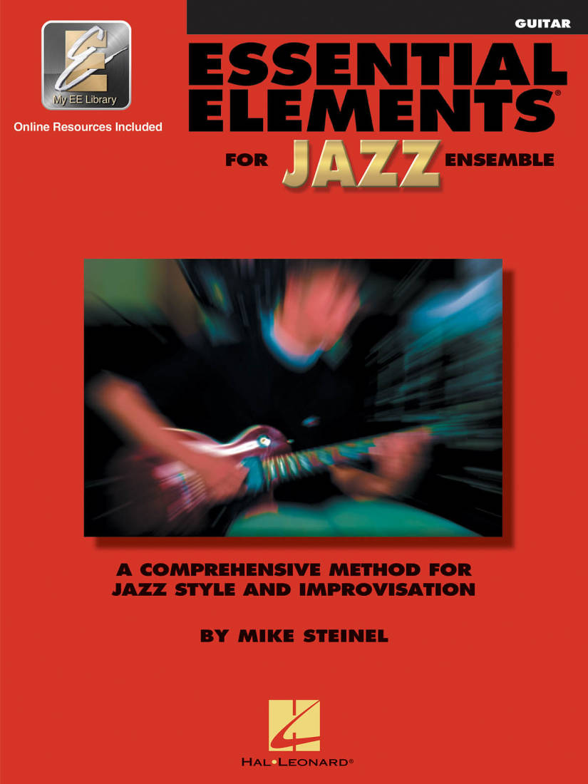 hal leonard essential elements for jazz ensemble steinel guitar book media online long. Black Bedroom Furniture Sets. Home Design Ideas