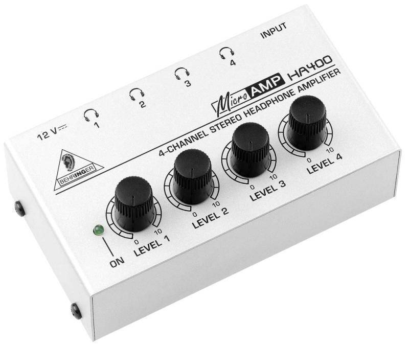 3cfdb254931 Behringer HA400 - 4 Channel Stereo Headphone Amp - Long & McQuade Musical  Instruments