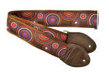 Harpsicle - Harp Shoulder Strap - Brown with Circles