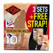 Rotosound - Jumbo King Acoustic Strings 10-50 -  3-Pack includes Free Strap