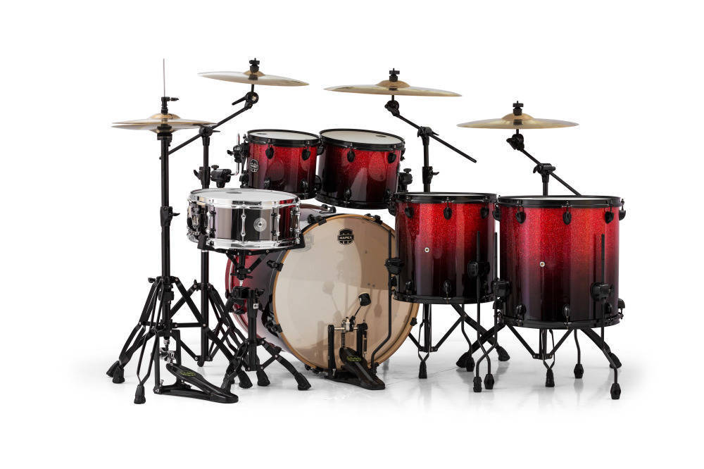 mapex armory 22 10 12 14x2 16 inch 6 piece shell pack magma red long mcquade musical. Black Bedroom Furniture Sets. Home Design Ideas