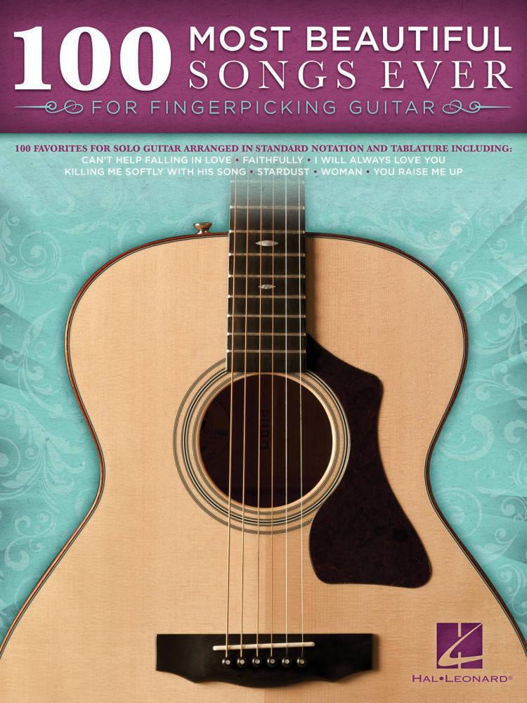 hal leonard 100 most beautiful songs ever for fingerpicking guitar guitar long mcquade. Black Bedroom Furniture Sets. Home Design Ideas