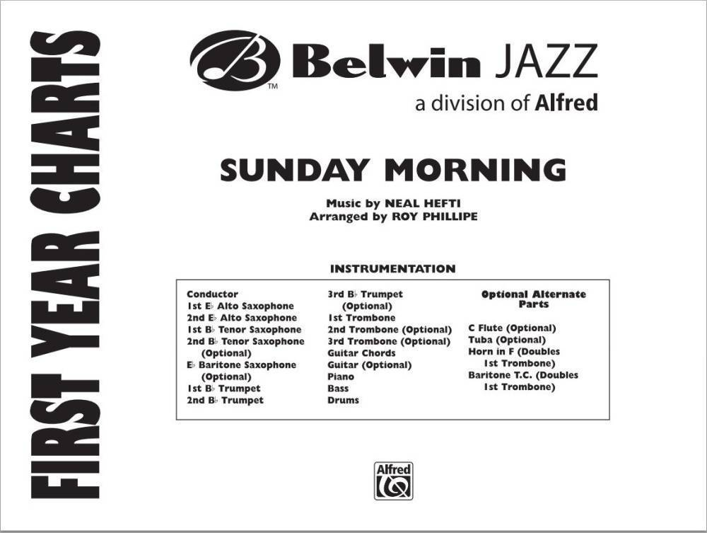 Belwin Sunday Morning Heftiphillippe Jazz Ensemble Gr 1