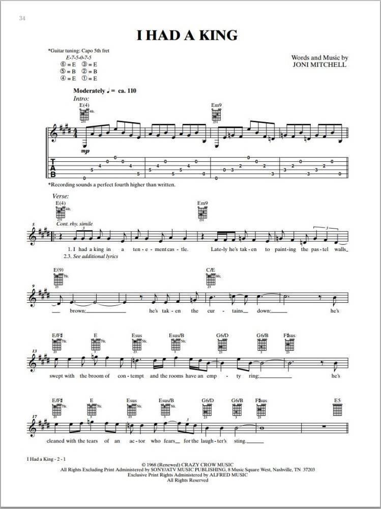 Alfred Publishing Joni Mitchell Complete So Far Guitar Tab