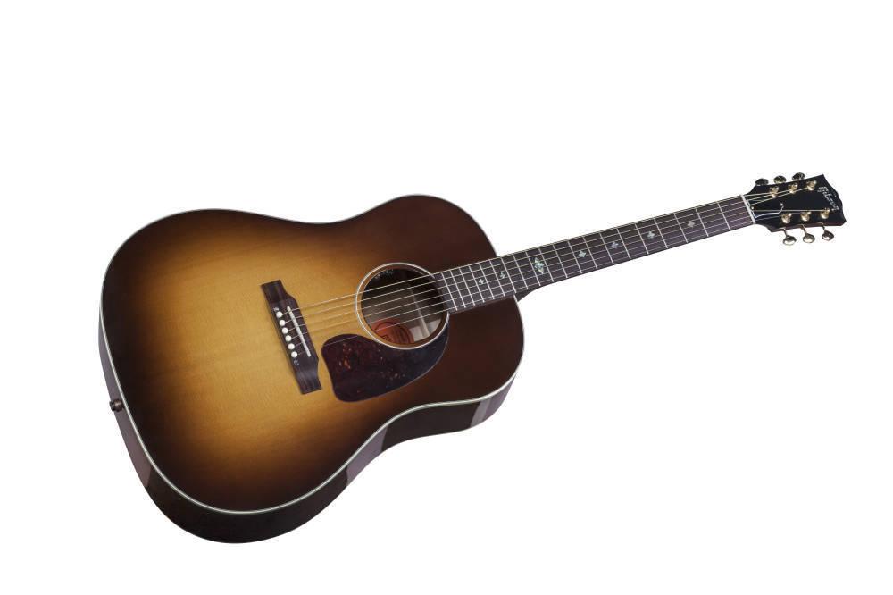 gibson j45 figured mahogany ltd honeyburst long mcquade musical instruments. Black Bedroom Furniture Sets. Home Design Ideas
