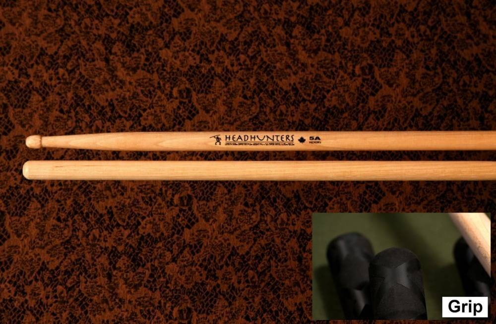 headhunters hickory classic 5a grip drum sticks long mcquade musical instruments. Black Bedroom Furniture Sets. Home Design Ideas