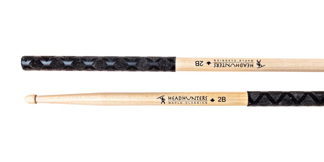 headhunters maple classic 2b grip drum sticks long mcquade musical instruments. Black Bedroom Furniture Sets. Home Design Ideas