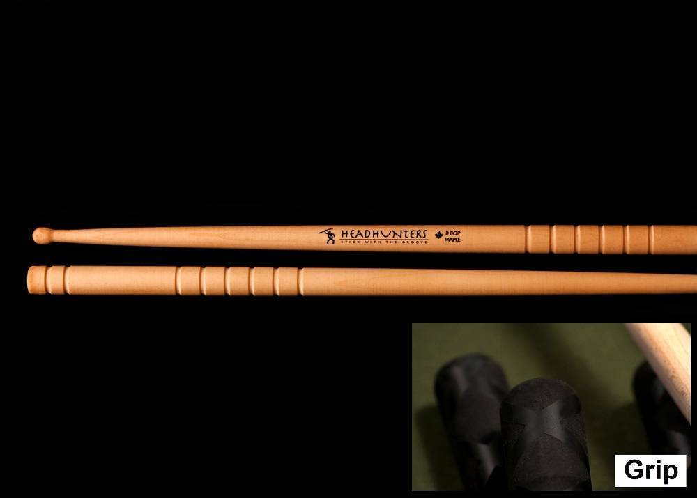 Headhunters Maple Grooves B Bop Grip Drum Sticks Long