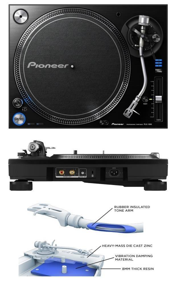 pioneer plx 1000 professional turntable long mcquade musical instruments. Black Bedroom Furniture Sets. Home Design Ideas