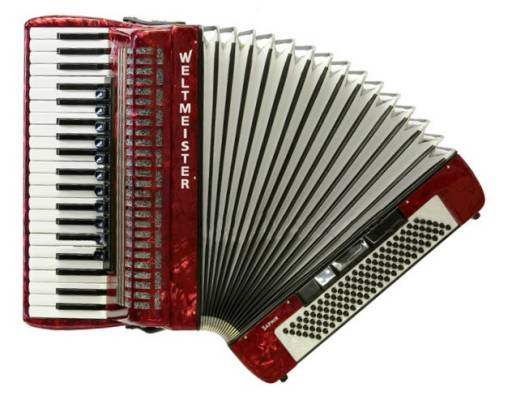 Saphir 41/120/IV/11/5 - Accordion - Red