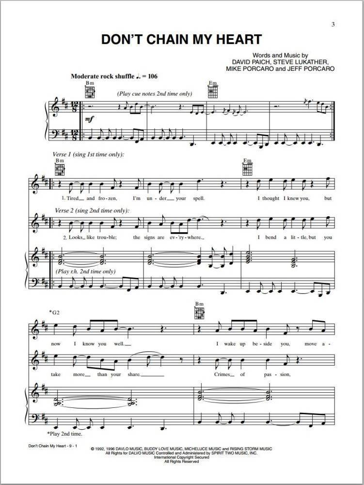 Alfred Publishing Toto Piano Anthology Pianovocalguitar Book