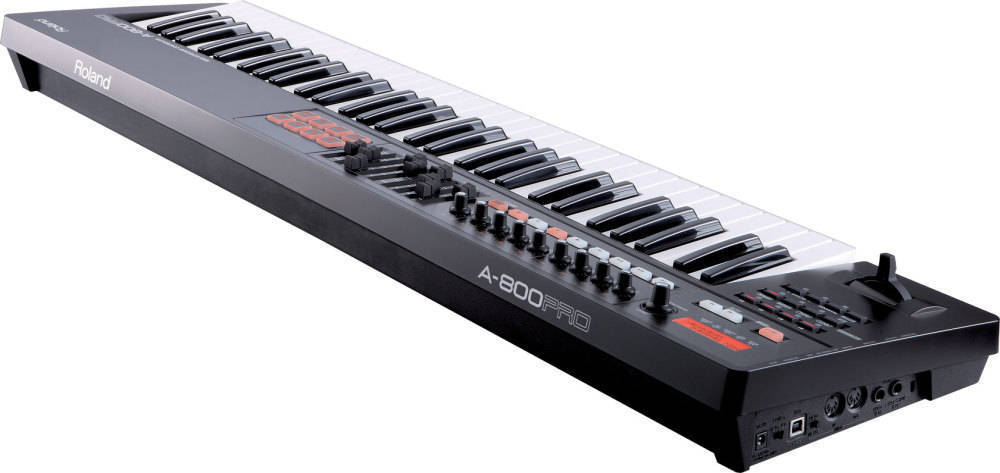 roland 61 key midi keyboard controller in black long mcquade musical instruments. Black Bedroom Furniture Sets. Home Design Ideas