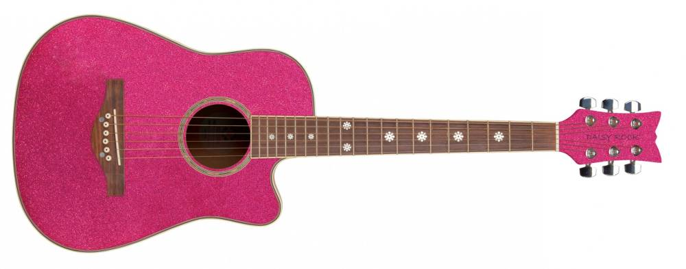 pink acoustic guitars instrument pictures to pin on