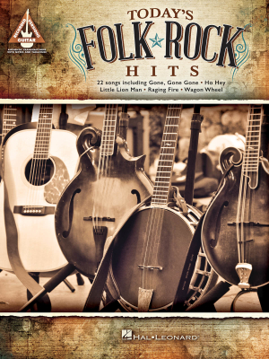 Today's Folk Rock Hits - Guitar TAB - Book