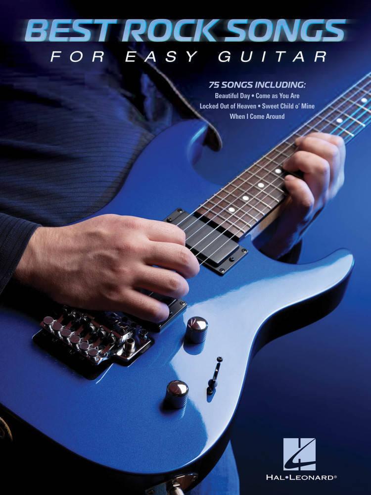 Hal Leonard Best Rock Songs For Easy Guitar Guitar