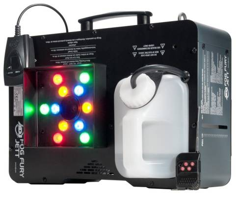 High Velocity Vertical Fog Machine W/ RGBA LEDs