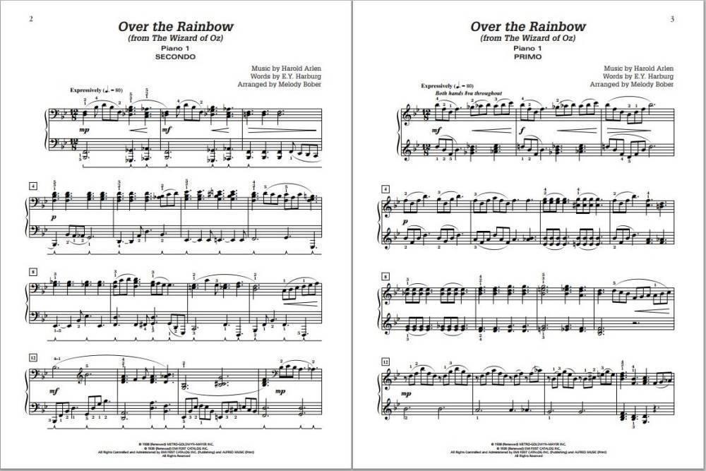 Alfred Publishing Over The Rainbow - Arlen/Bober - Piano Quartet ...