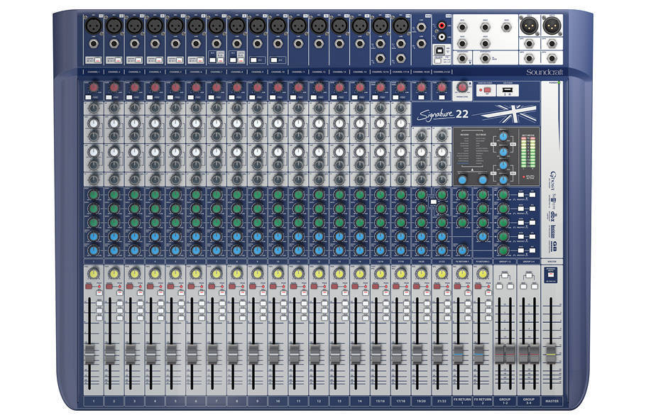 Soundcraft - 22 Channel Analog Mixer with Lexicon Effects and USB