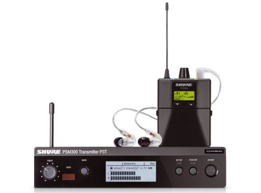 PSM300 Wireless In-Ear System w/SE215-CL