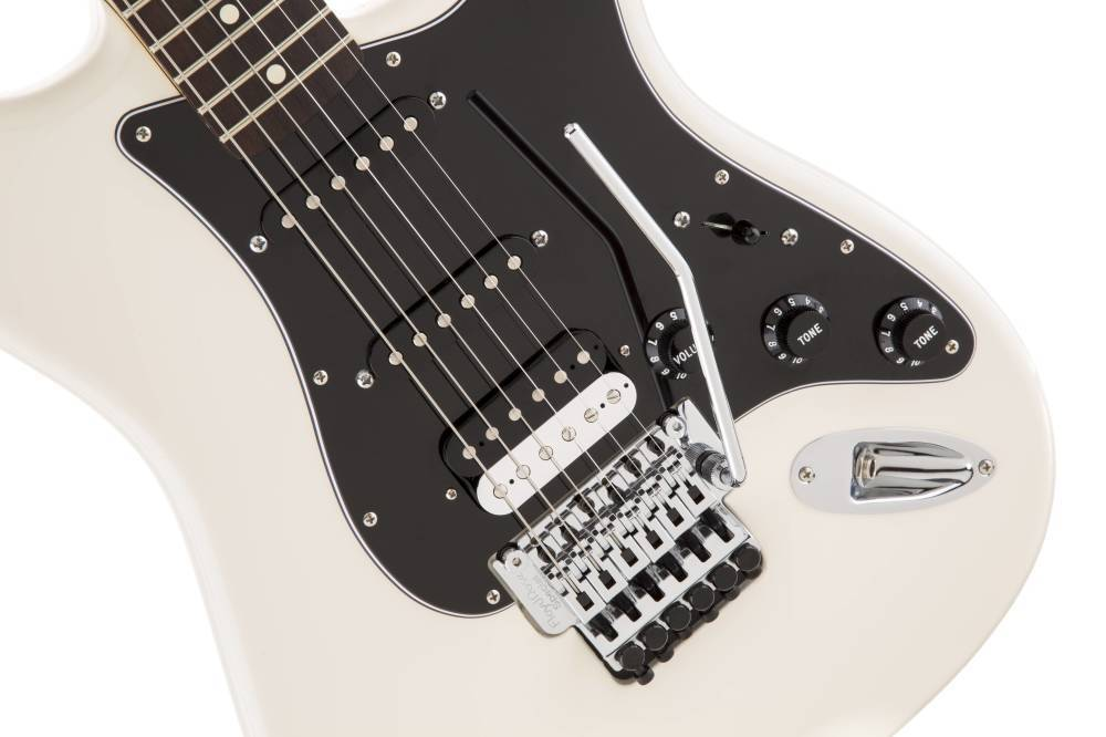 fender standard stratocaster hss with floyd rose olympic white rosewood long mcquade. Black Bedroom Furniture Sets. Home Design Ideas