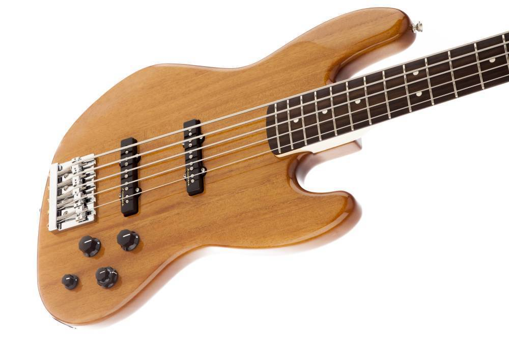 fender deluxe active jazz bass 5 string natural okoume long mcquade musical instruments. Black Bedroom Furniture Sets. Home Design Ideas