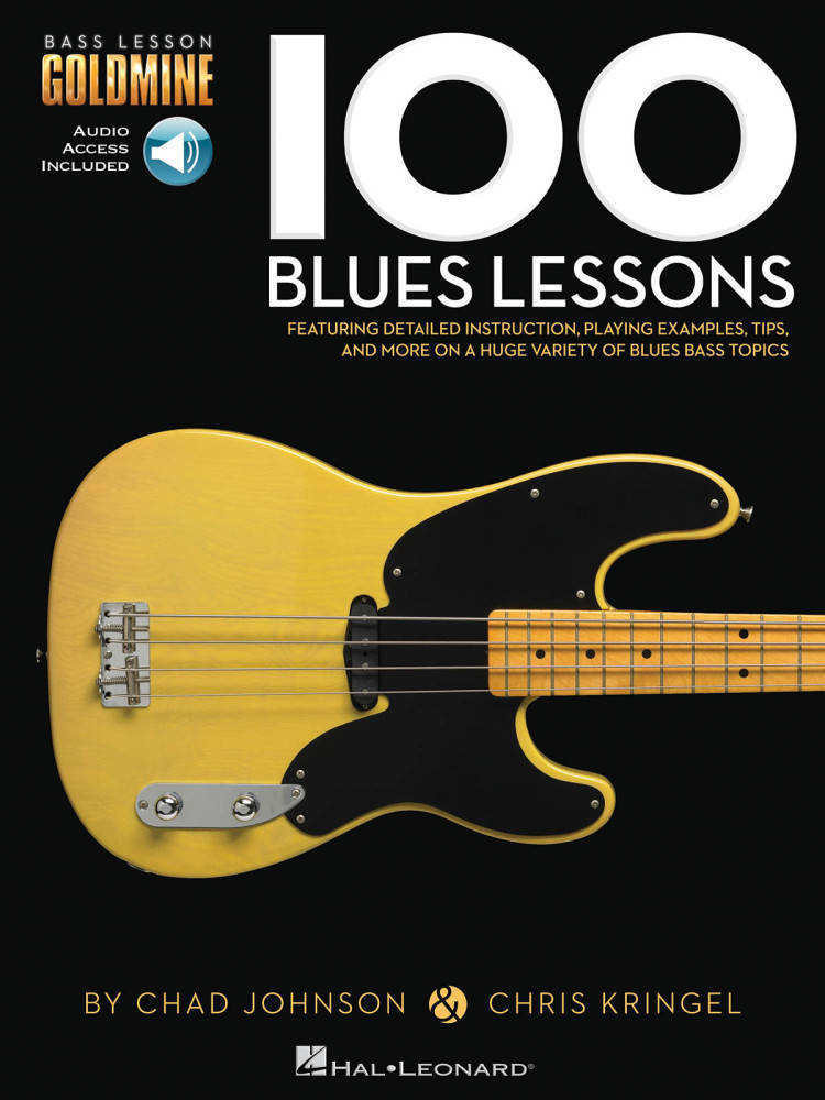 hal leonard 100 blues lessons bass guitar tab audio online long mcquade musical instruments. Black Bedroom Furniture Sets. Home Design Ideas