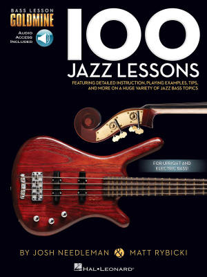 100 Jazz Lessons - Bass Guitar TAB/Audio Online