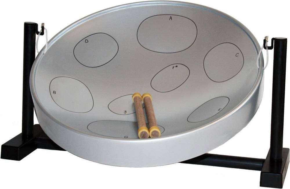 Panyard Jumbie Jam Table Top Steel Drum Kit Silver