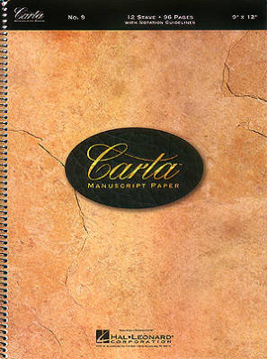 Carta Manuscript Paper: No. 9 - 12 Stave - Spiral Bound