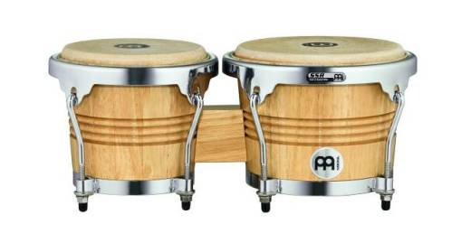WB200 Wood Bongos - Natural with Chrome Hardware