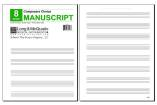 Long & McQuade - Composers Choice Manuscript Paper: 8 Stave/3-Hole Punched - Pad