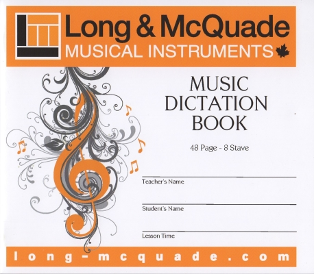 Music Dictation Book - 8 Stave - 48 Page