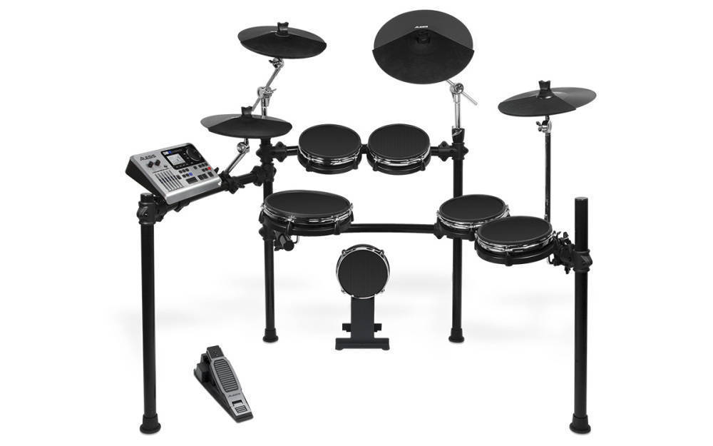alesis dm10 six piece electronic drum kit with mesh drum heads long mcquade musical instruments. Black Bedroom Furniture Sets. Home Design Ideas