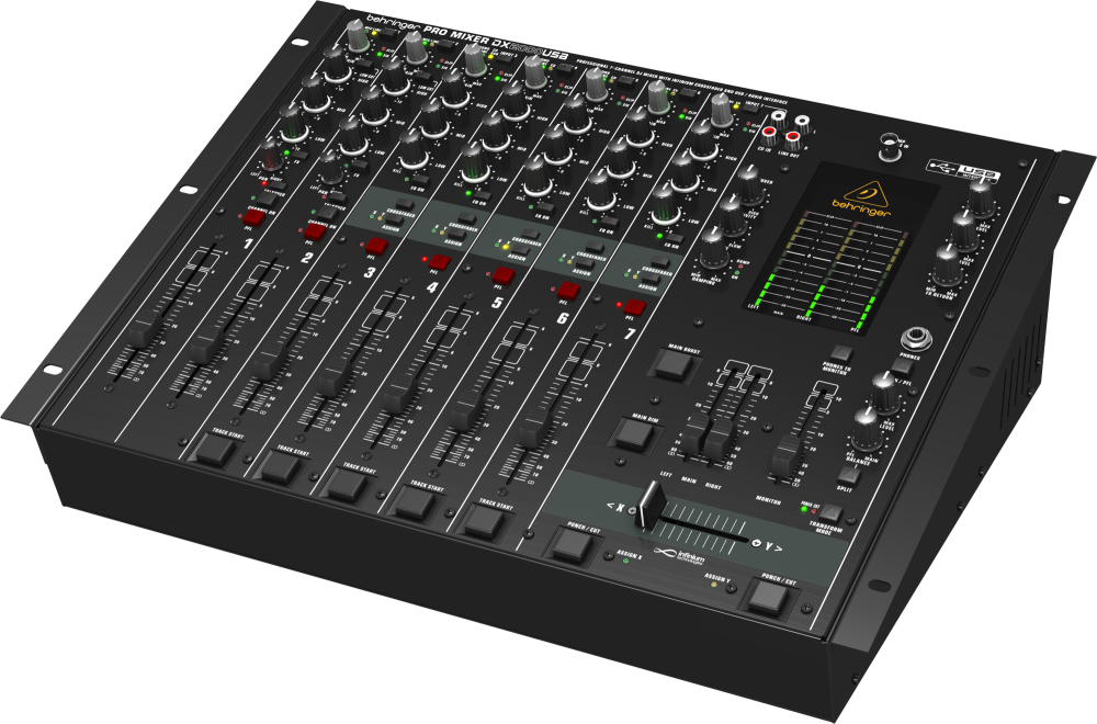 behringer 7 channel dj mixer with usb audio interface long mcquade musical instruments. Black Bedroom Furniture Sets. Home Design Ideas