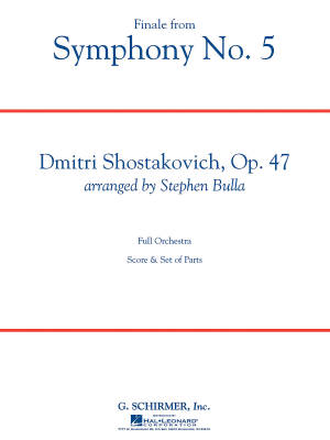 Finale from Symphony No. 5 - Shostakovich/Bulla - Full Orchestra: Gr. 3-4