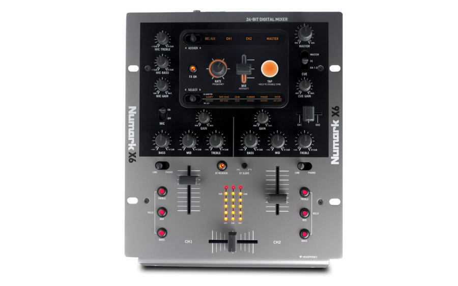 numark x6 2 channel dj mixer with effects long mcquade musical instruments. Black Bedroom Furniture Sets. Home Design Ideas