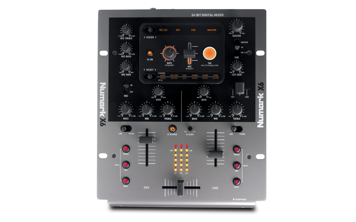 Numark X6 - 2 Channel DJ Mixer With Effects - Long & McQuade