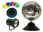 American DJ - Mirror Ball with Pinspot & Gels