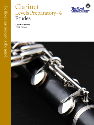 Clarinet Etudes Levels Preparatory-4, 2014 Edition - Book