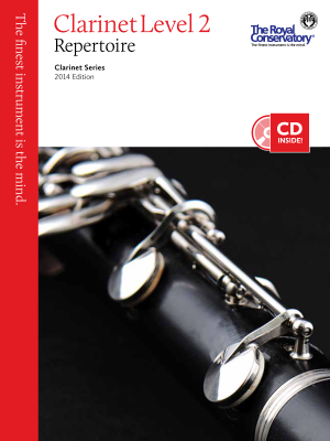 Clarinet Repertoire Level 2, 2014 Edition - Book/CD